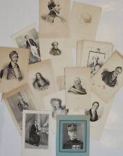 LOT 24 gravures / portraits gravés / personnalités historiques - engravings