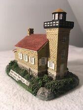 Lefton's Historic American Lighthouse, Copper Harbor RR, MI, Used in Box, 2000