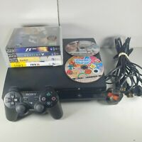 Playstation 3 PS3 Slim 250GB Console Bundle 6 Games 1 Official Controller Tested