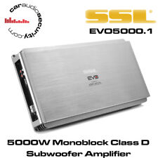 SSL EVO5000.1 5000 Watts Monoblock Car Amplifier Subwoofer Bass Amplifier Amp