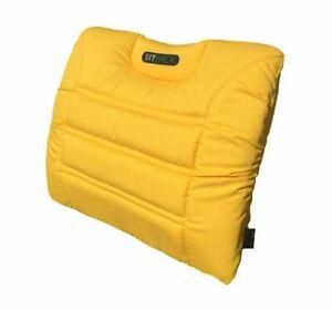 SITBACK AIR Fahrzeug Rückenkissen mit aufblasbarem Luftkissen löwenzahn gelb