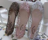 Women Girl Jelly Flower Summer Beach Sandals Thong Slipper Flip Flops Flat Shoes