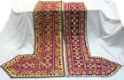 Pair Of Door Valance Kutch Old Fine Craft Banjara Heavy Embroidery Trim Tapestry