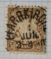 Germany Bavaria sc#45 50pf Pfarrkirchen city SOTN postmark used cv$27.50+