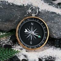 Portable Outdoor Aluminum Camping Compass Keychain for Presents Gift Gold G44