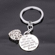 Family Heart Keychain Mom Mother Daughter Key Chain Keyring Keyfob Charm Bag