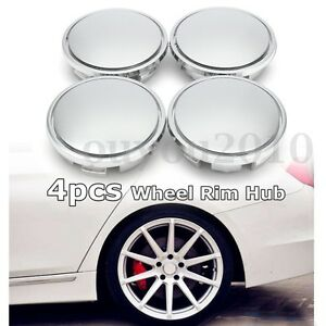 4Pcs No Logo Universal 65mm Chrome Car Wheel Center Caps Tyre Rim Hub Cap   ~
