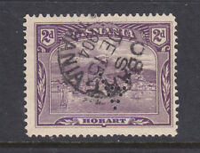 """New listing Tasmania: 2d Pictorial Wmk Tas Sg 231 Used Perfin """"A"""" Inverted"""