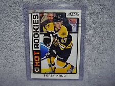 Torey Krug RC 2012-13 Panini Score Rookie Card #531 Boston Bruins, Mint VHTF