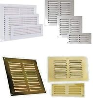 LOUVRE AIR VENT Louvered Ventilation Ducting Grille Brick Wall Cover LARGE SMALL