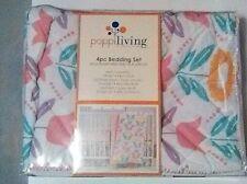 Crib Bedding Flower 4 pc Set Poppiliving