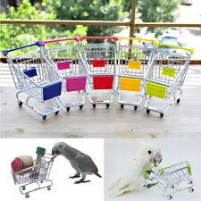 Neu Mini Supermarkt Schubkarre Einkaufswagen Kinder Papagei Vogel Spielzeug