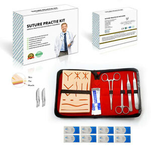 Suture Practice Kit for Medical Vet Training Students with Mini Suture Pad Tools