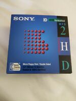 Sony 2HD Floppy Disk Diskettes IBM Formatted 1.44 MB 3.5 Inch 10 Pack Brand New