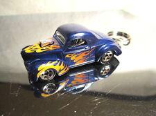 2015 Hot Wheels Classics '41 Willys 6/10 Custom Key Chain Ring!