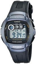 Casio Men's Digital LED Light Dual Time Black Polyurethane Sports Watch W210-1BV
