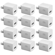 12x White 1A USB Wall Charger Phone Plug Charging Port Cube Adapter Apple Iphone