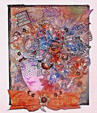 "OOAK Canvas Art Floral Head Bust , ""8""x 10"""