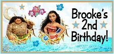 10 Moana Birthday Party or Baby Shower 2x4 Inch Stickers Treat Bags Cups Bubbles