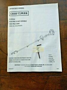 "CRAFTSMAN P210 10"" 2Cy 25cc Cordless Pole Saw CMXGJAMD25PS MANUAL ONLY"