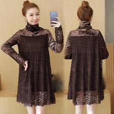 latest Autumn Korean trend fashion elegant Bud silk Long sleeve loose dress