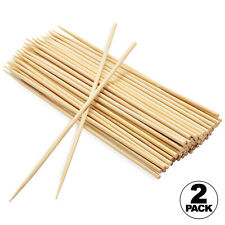 100pc 10 inch Bamboo Skewers Wooden BBQ Sticks for Shish Grill Kabobs (2 PACK)