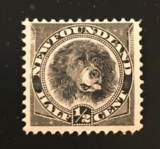 Stamps Canada Newfoundland Sc58 1/2c black Dog of 1894. See description
