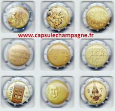 Capsules de champagne série Générique euros N°1 A 9 SUR 27 NEW SEP 2021