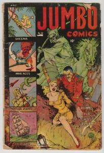 Jumbo Comics #161 Canadian Edition Bondage Cover 1952 Fiction House GD + 2.5