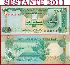 (com) UAE  UNITED ARAB EMIRATES  -  10 DIRHAMS 2001  -   P 20b  - UNC