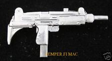 UZI MACHINE GUN XL LARGE LAPEL HAT PIN UP UZI DOES IT ASSUALT RIFLE GUN 9MM WOW!