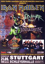 Original Konzertplakat Iron Maiden 21.9.1999.  Stuttgart, Schleyerhalle