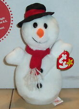 Ty Snowball The Snowman Beanie Baby plush toy