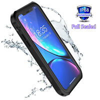 For Apple iPhone XR XS Max X 7 8 Waterproof Case Cover Built-in Screen Protector