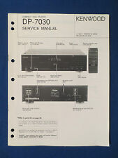 KENWOOD DP-7030 CD SERVICE MANUAL ORIGINAL FACTORY ISSUE GOOD CONDITION