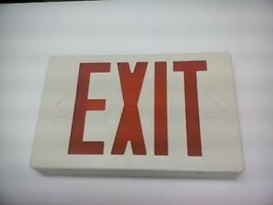 ELITE LED Wall Exit Sign w/Battery Back-Up Red /White ELX-603-R W NEW