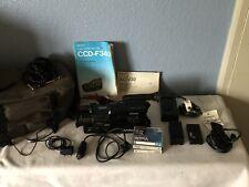 Sony 8 Pal Cámara De Vídeo Grabadora CCD-F340 paquete cintas en blanco, cargador de trabajo