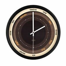 Color Map 12-Inch Non-Ticking Silent Wall Clock With Modern design, Metal Frame
