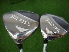 NEW LH WOMENS CALLAWAY SOLAIRE 11* DRIVER + 3 WOOD 3W WOMENS ATHLETIC FLEX