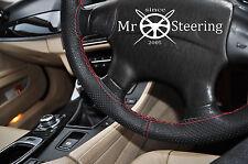 Cubierta del Volante Cuero Perforado Para Subaru Forester II rojo doble puntada