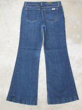 David Kahn Jeans Classic Rise Flare Woman Sz 28 w/ Full Leg Blue Stretch K poc