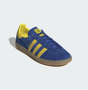 Limited Edition adidas Stockholm Royal Blue Yellow Shoes H01819 - Men's SZ 7-13