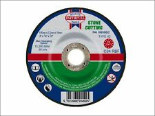 Faithfull - Cut Off Disc for Stone Depressed Centre 100 x 3.2 x 16mm