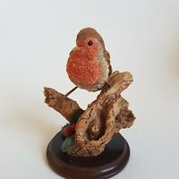 Worcester Ornamental Studio Robin Bird Figure Worcestershire Artists 1995 :E6