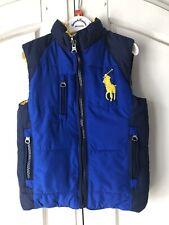 Boys Designer Polo Ralph Lauren Reversible Bodywarmer/Gilet, Age 3, RRP £130