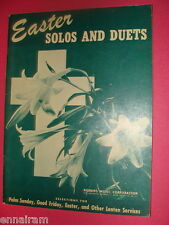 Easter Solos and Duets Robbins Music 1945 Palm Sunday Good Friday Lent
