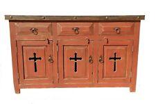 Rustic Red Templar Cross Bathroom Vanity