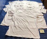 Lot Jockey Men's V Neck White 7 T-Shirts 6x STAYNEW 1x STAYCOOL 100% Cotton XL