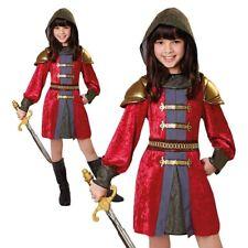 Girls Knight Princess Costume Kids Warrior Book Week Day Fancy Dress Outfit