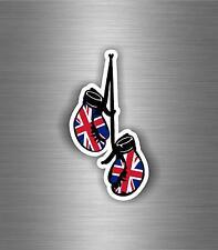 Autocollant sticker voiture moto gant de boxe drapeau uk anglais royaume uni r2